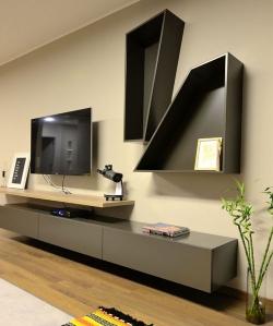 实木多层板电视柜