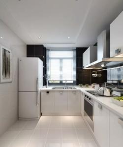 现代厨房实木橱柜