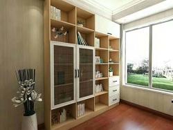 现代简约书柜定制